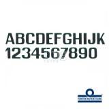 Lettere e numeri 250 mm neri