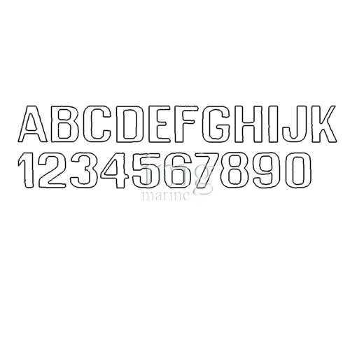 Lettere e numeri 200 mm bianchi