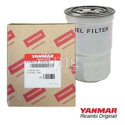 Filtro gasolio 129574-55711 per motori 4JH4TE-HTE - 4JHG2UTE - 4JH3TE - 4JH3HTE/DTE Yanmar