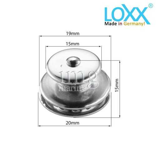 Misure Testa Bottone Loxx - Tenax Originale