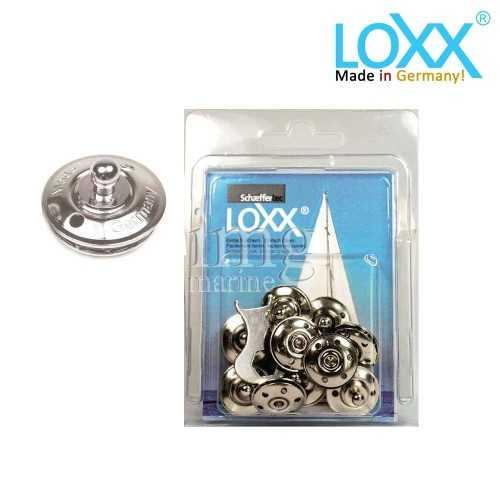 Bottoni Loxx Tenax Blister 10 Basi attacco tessuto