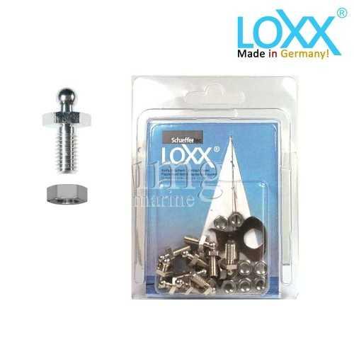 Bottoni Loxx Tenax Blister - 10 Viti con dado