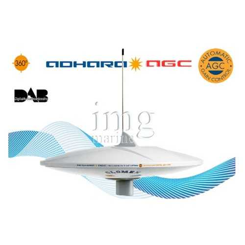 Antenna TV e Radio DAB AM-FM Adhara V9150AGC-DAB20 Glomex
