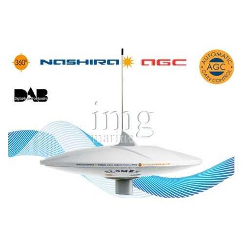 Antenna TV AM-FM Nashira V9112AGCU-DAB20 Glomex
