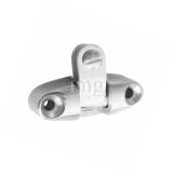 Base alta a forcella snodata in acciaio Inox 316