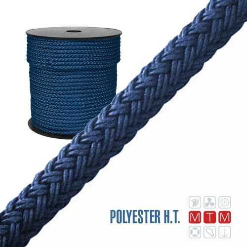 Cima 16 legnoli Poliestere HT colorato in bobina blu