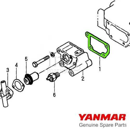 Guarnizione piastra posteriore testa Yanmar disegno