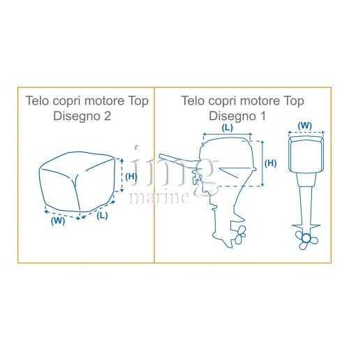 Telo copri testa motore Covy Lux il poliestere  - Disegno
