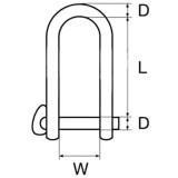 Grillo con chiusura a scatto inox AISI 316 carico di rottura dichiarato