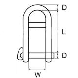 Grillo con chiusura a scatto inox AISI 316 con barretta carico di rottura dichiarato