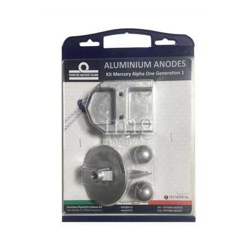Kit anodi in alluminio per Mercruiser Alpha