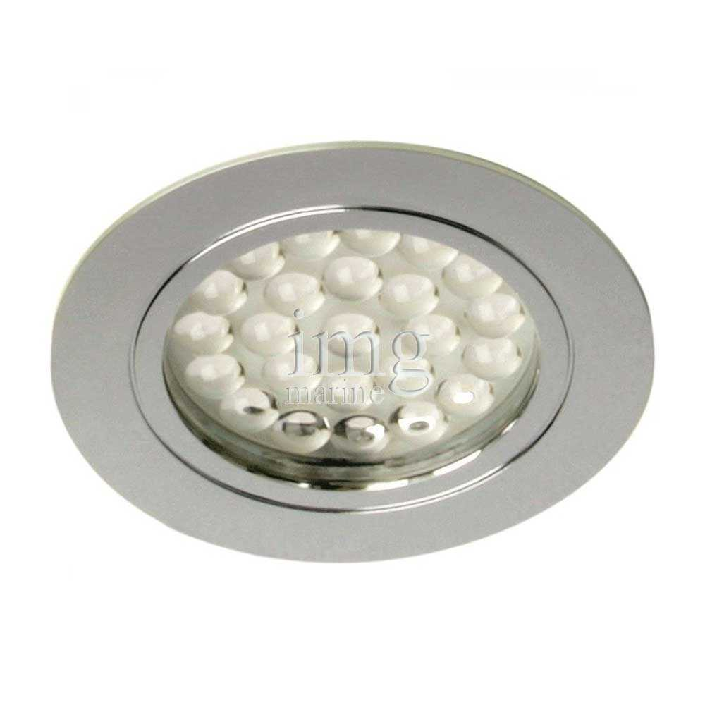 Plafoniera Led tonda Chrome-R