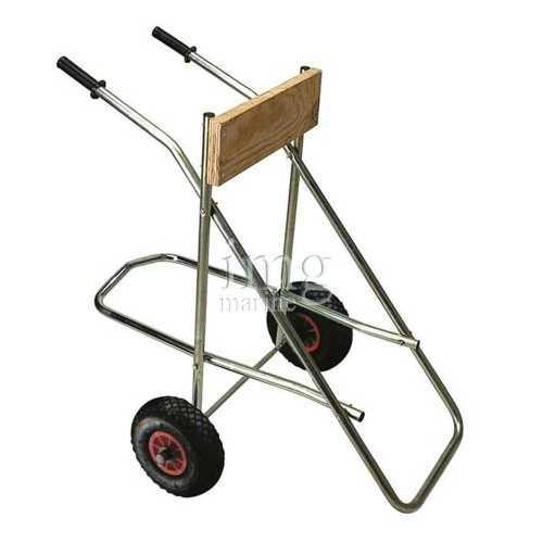 Carrello portamotore 25Hp con ruote gonfiabili