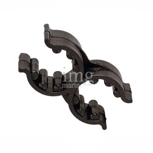 Clip doppia in plastica nera