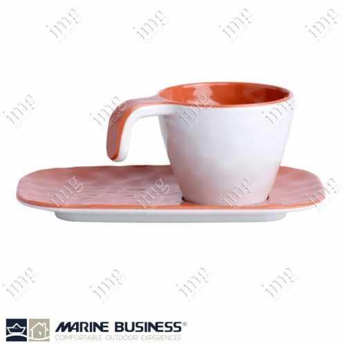 Tazzine caffè con piattini Summer Coral Marine Business