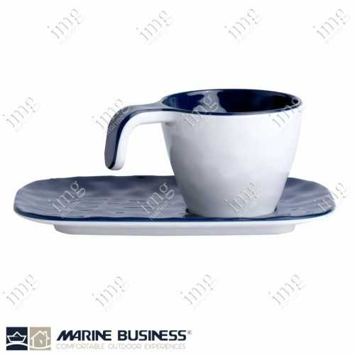 Marine Business 6 Tazzine caffè con piattini Summer Blue