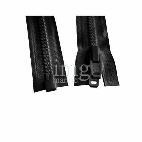 Cerniera lampo YKK zip catena 10 per uso nautico Nera