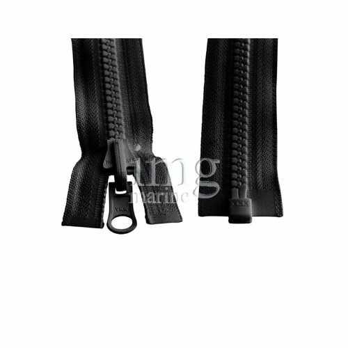 Cerniera lampo YKK nero zip catena 8 per uso nautico