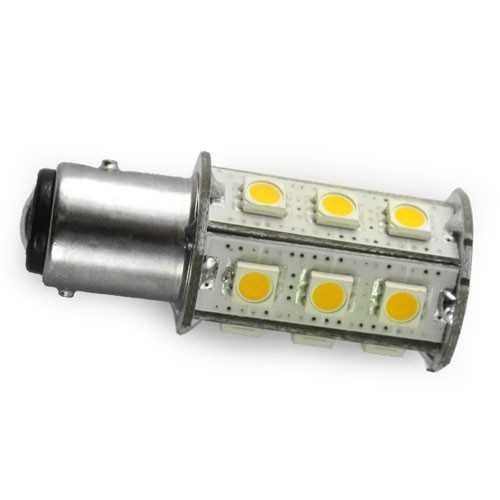 Lampadina 15 smd Led con sensore BAY15D