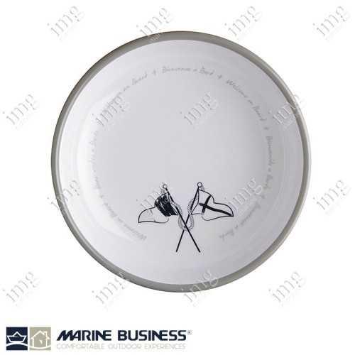 Set piatti 17 pezzi Welcome on Board Marine Business Piatto fondo