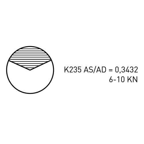 Elica bipala K235 per Linea asse