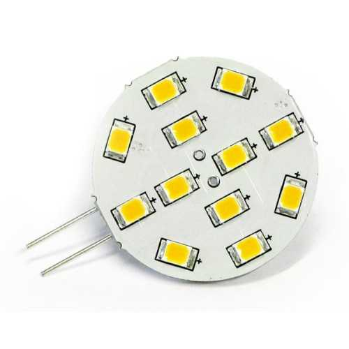 Lampadina 12 smd Led ø 30 - G4 | Dixplay