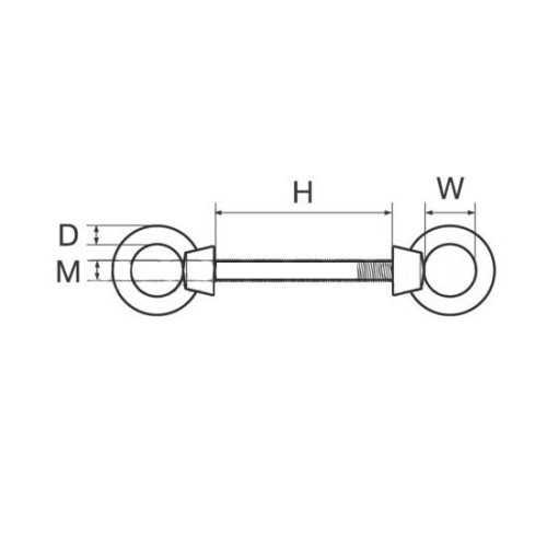 Golfare doppio in acciaio inox AISI 316