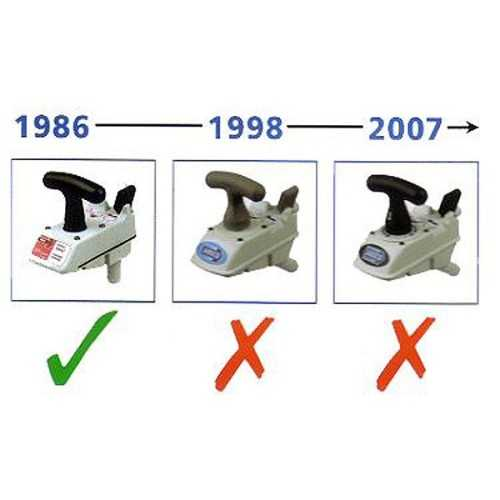 Kit guarnizioni WC manuale Jabsco precedente 1998