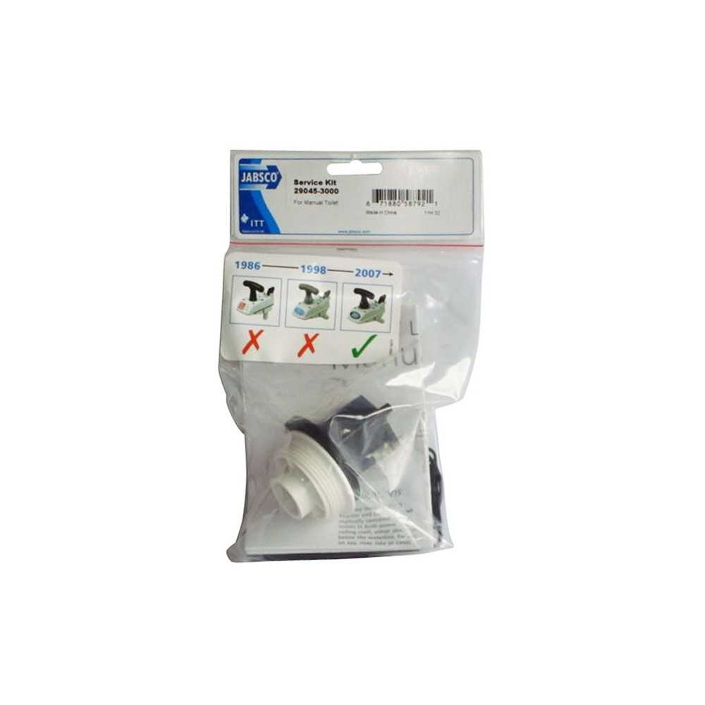 Kit guarnizioni WC manuale Jabsco produzione dal 2008