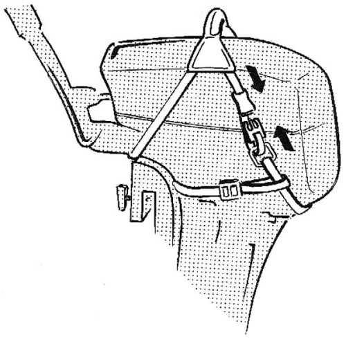 Imbragatura per motori fuoribordo con maniglia
