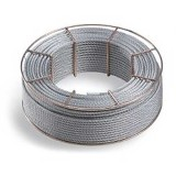 particolare cavo in acciaio inox AISI 316 a 19 fili