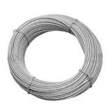 particolare cavo in acciaio inox AISI 316 a 49 fili