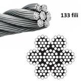 cavo in acciaio inox AISI 316 a 133 fili