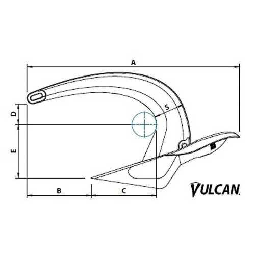 Ancora Vulcan in acciaio zincato