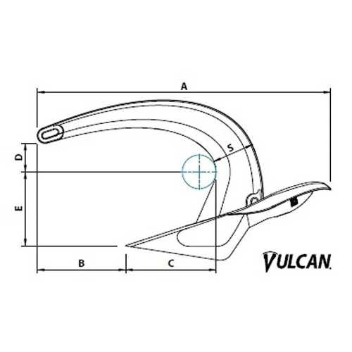 Ancora Vulcan in acciaio inox