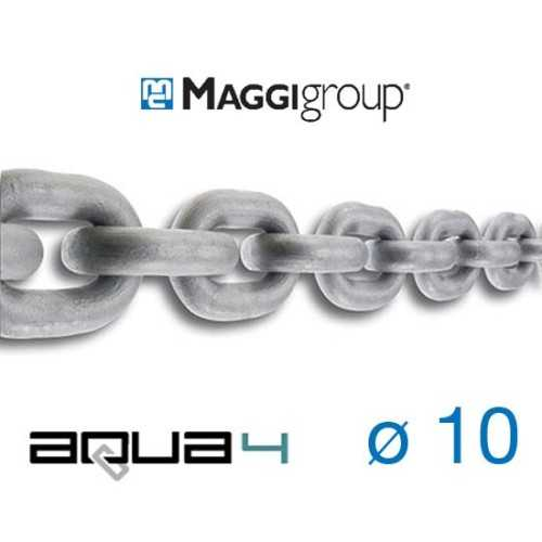 Catena zincata 10x28 mm Maggi Aqua4 calibrata per verricelli