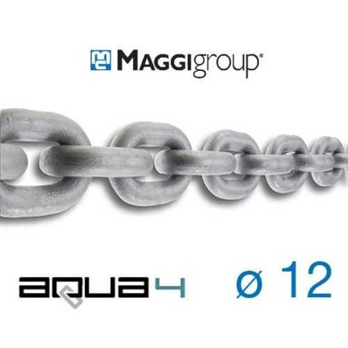 Catena zincata 12 mm Maggi Aqua4 calibrata per verricelli