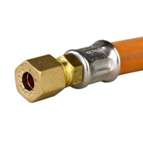 Tubo gas a bassa pressione attacco filettato-compressione