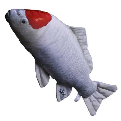 Cuscino d'arredo Pesce Carpa Koi Bianco / Arancio