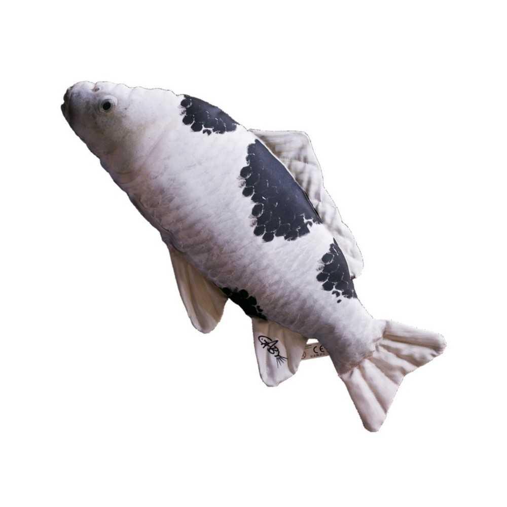 Cuscino d 39 arredo a forma di pesce carpa koi bianco e nero for Prezzo carpa koi