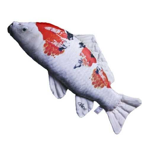 Cuscino d'arredo Pesce Carpa Koi Bianco / Nero