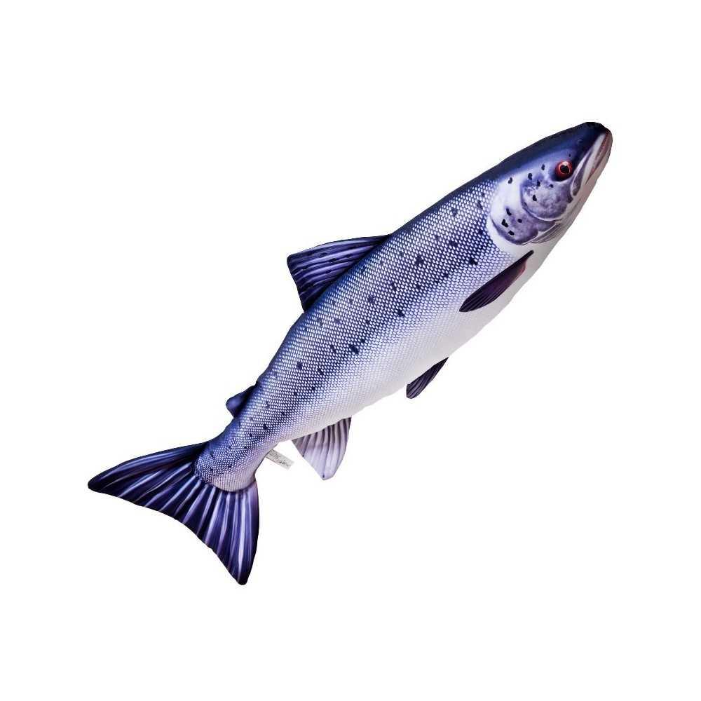 Cuscino d 39 arredo a forma di pesce salmone dell 39 atlantico for Ais arredo