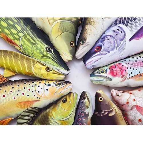 Cuscino d'arredo Pesce Trota Iridea L62