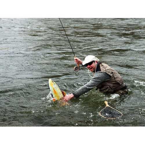 Cuscino d'arredo Pesce Trota Marrone L62