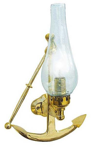 Lampada da parete in ottone - Ancora H 30