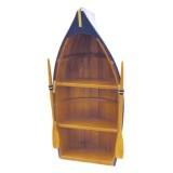Scialuppa portaoggetti in legno realizzata a mano