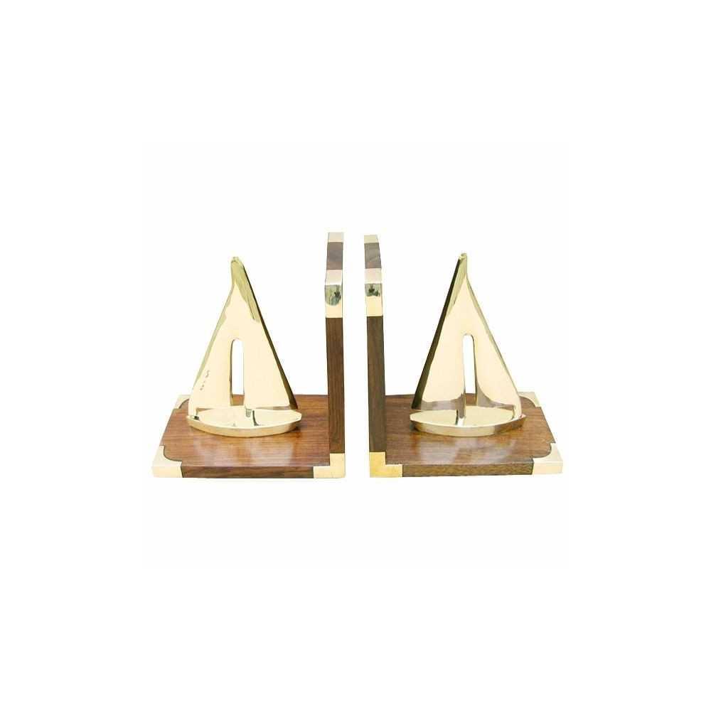 Fermalibri con barche a vela in ottone for Arredo barche