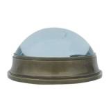 Bussola con vetro Ø 6 cm in ottone anticato