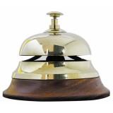 Campanello da banco in ottone e legno