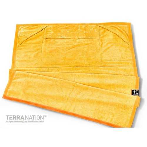 Telo mare in microfibra ONEMOE Giallo Terra Nation